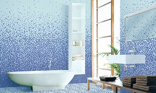Gạch mosaic ốp nhà tắm